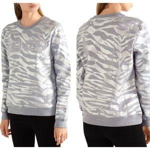 KENZO PARIS Metallic Tiger Print Sweatshirt {S53}